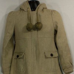 JUICY COUTURE WOOL PEACOAT - BEIGE TAN WMNS SZ PS